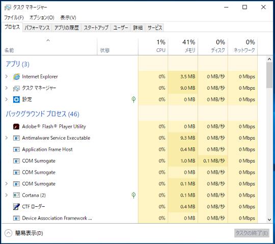 #Windows 10(バージョン1803)でタスクマネージャーを起動する方法